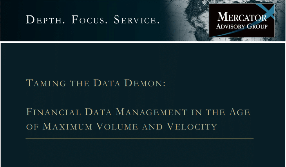 Financial Data Management in the Age of Maximum Volume and Velocity